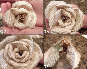 Làm hoa hồng từ giấy báo