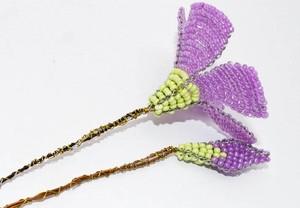 Kết hoa sim từ hạt cườm
