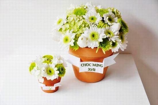Cắm hoa mừng ngày nhà giáo