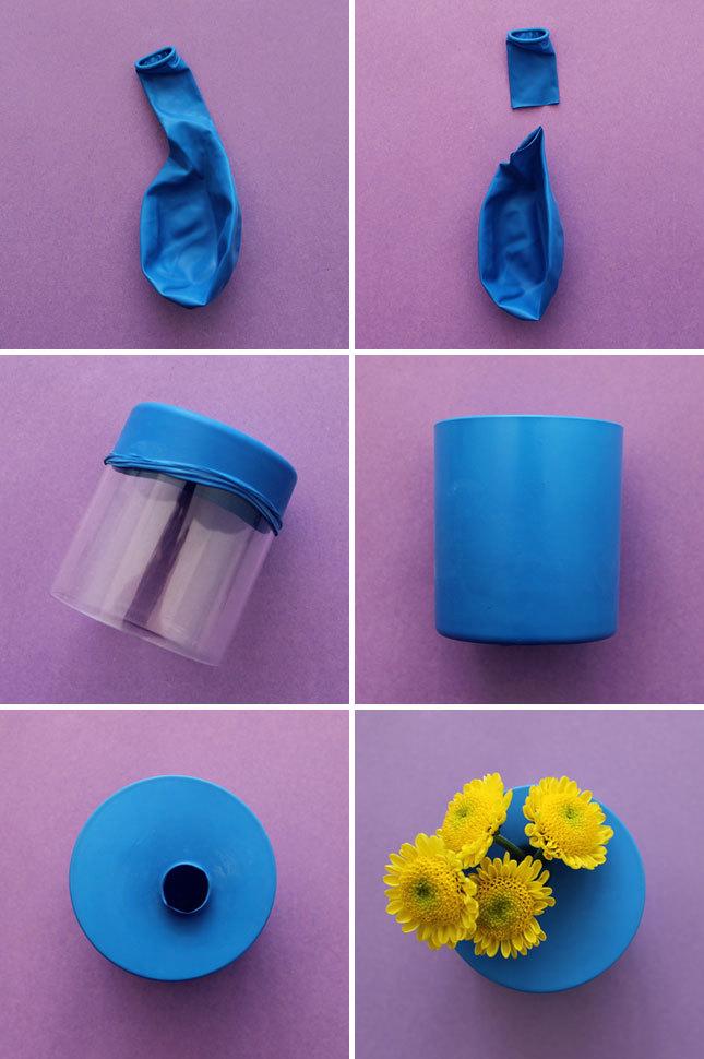 Cách trang trí lọ hoa bằng bóng bay - Bước 1