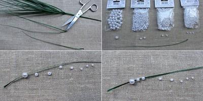 Xâu hoa linh lan từ hạt cườm (b2)