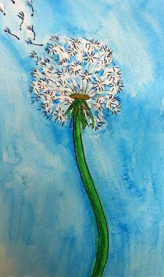 Vẽ hoa bồ công anh