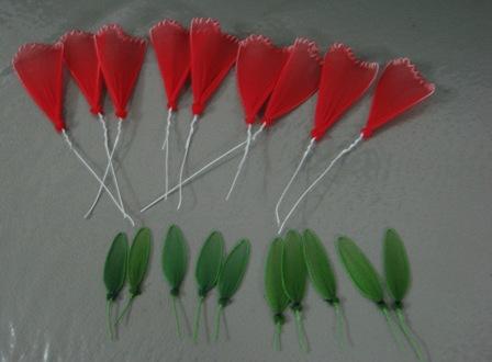 Cách làm hoa cẩm chướng bằng vải voan (bước 4)