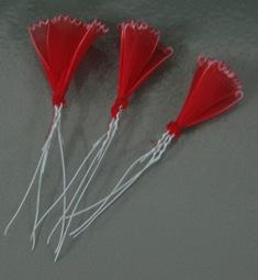 Cách làm hoa cẩm chướng bằng vải voan (bước 5)
