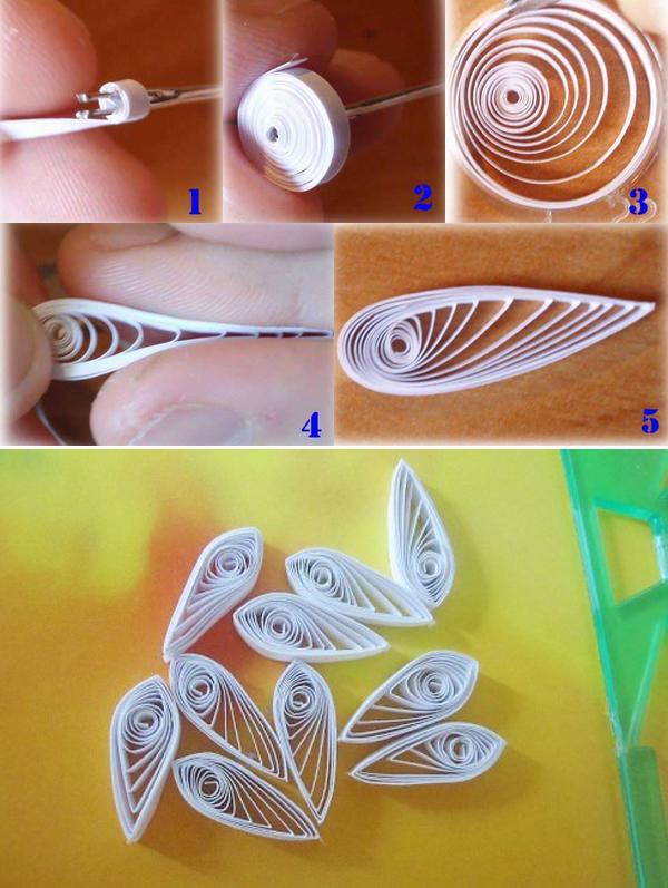 Làm hoa cúc từ giấy cuộn (bước 1)