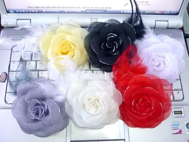 Làm hoa hồng từ vải voan