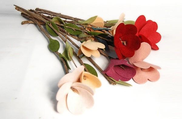 Bó hoa vải đẹp cho ngày lễ valentine
