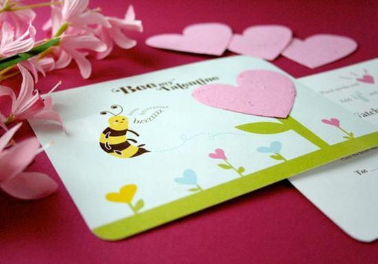 Thiệp hoa siêu kute cho ngày valentine