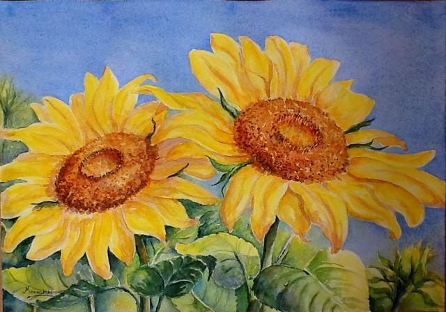 hướng dẫn vẽ hoa hướng dương