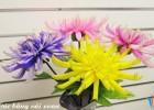 Làm hoa cúc bằng vải voan