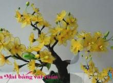 Hoa mai bằng vải voan