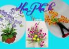mẫu hoa làm bằng pha lê