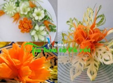 Tỉa hoa từ cà rốt