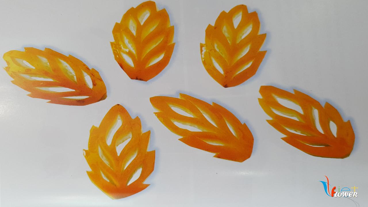 Tỉa lá vàng từ trái cà