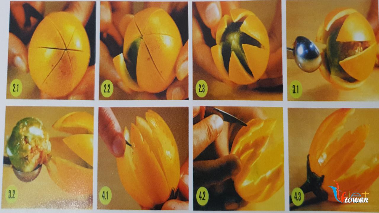 Tỉa hoa từ trái cà
