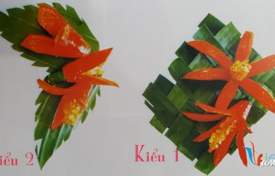 Tỉa hoa từ ớt đỏ