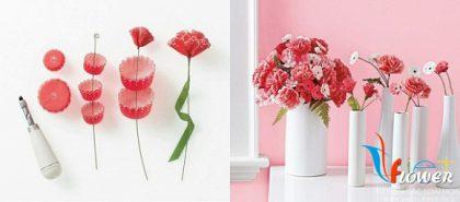 Làm hoa giấy lung linh từ khuôn cupcake