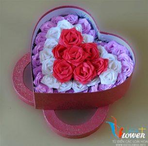 Làm hoa hồng từ giấy